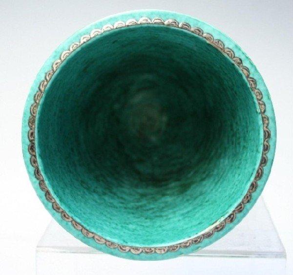 Gustavsberg Argenta Kage Vase w/ Silver Overlay - 8