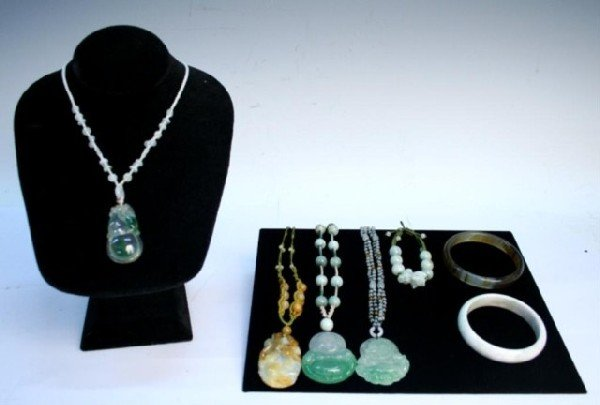 Various Chinese Jade Jewelry Necklaces & Bracelets