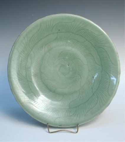 Large Chinese Celadon Plate 19th Century
