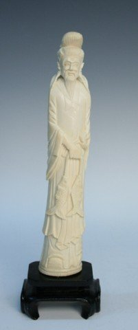 Chinese Ivory Carved Figure 19th Century