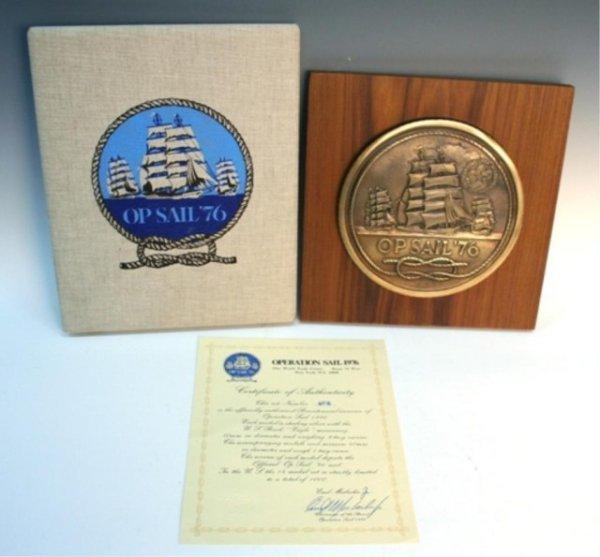"""1976 Bicentennial """"Op Sail"""" Sterling Medal Set - 2"""