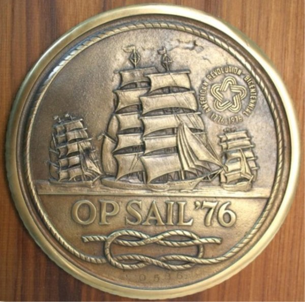 """1976 Bicentennial """"Op Sail"""" Sterling Medal Set - 4"""