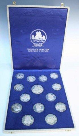 """1976 Bicentennial """"Op Sail"""" Sterling Medal Set - 6"""