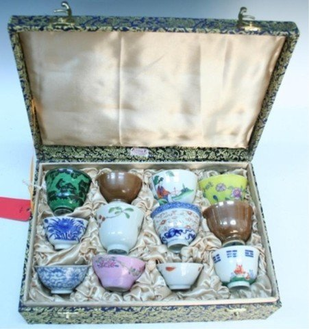 Dozen Various Chinese Porcelain Teacups