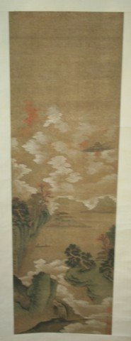 Chinese Scroll Painting of Landscape 18th Century