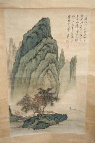 Chinese Scroll Landscape Painting - Yang Sheng Fa