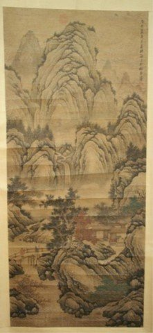 Chinese Wang Shumin Scroll Painting - Landscape