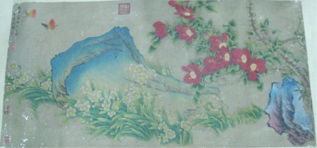 Chinese Hand Scroll of Flowers - Shen Quan