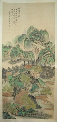 Chinese Wu Hufan Scroll Painting - Landscape