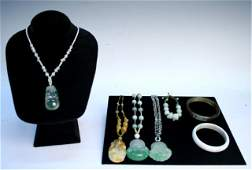 Various Chinese Jade Jewelry Necklaces  Bracelets