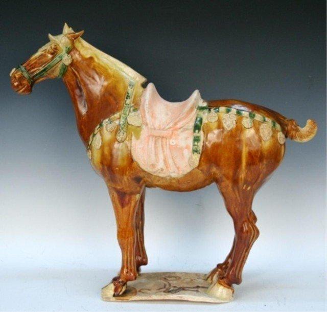 Chinese Sancai Pottery Horse Tang Dynasty