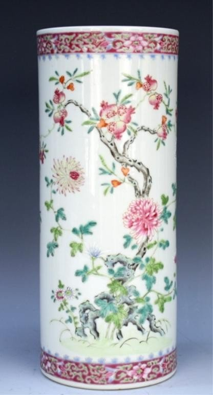 Chinese Famille Rose Porcelain Hat Stand Early 20C