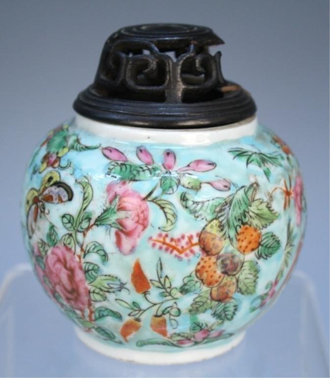 Chinese Famille Rose Porcelain Jar 19th C.