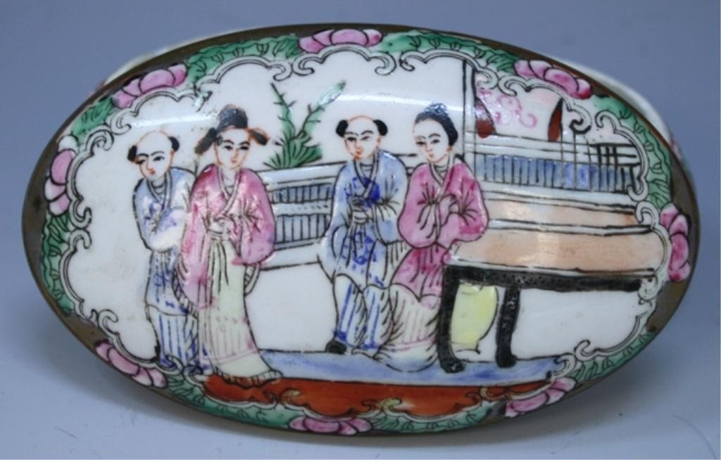 Chinese Famille Rose Porcelain Jewelry Box