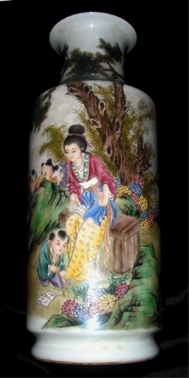 Chinese Famille Rose Porcelain Vase 20th C.