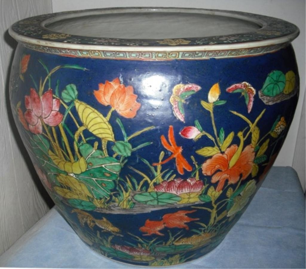 Chinese Famille Rose Porcelain Planter 20th C.