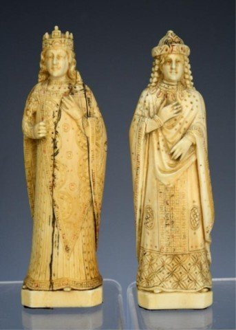 French Pair of Ivory Figures 18th Century
