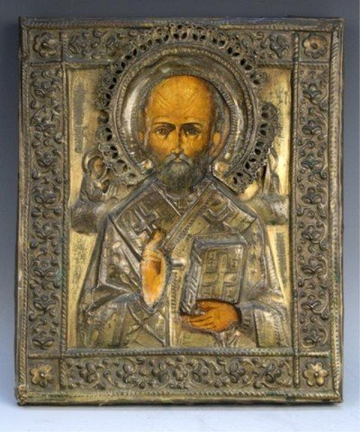Russian Icon Painting on Wood - St. Nicholas