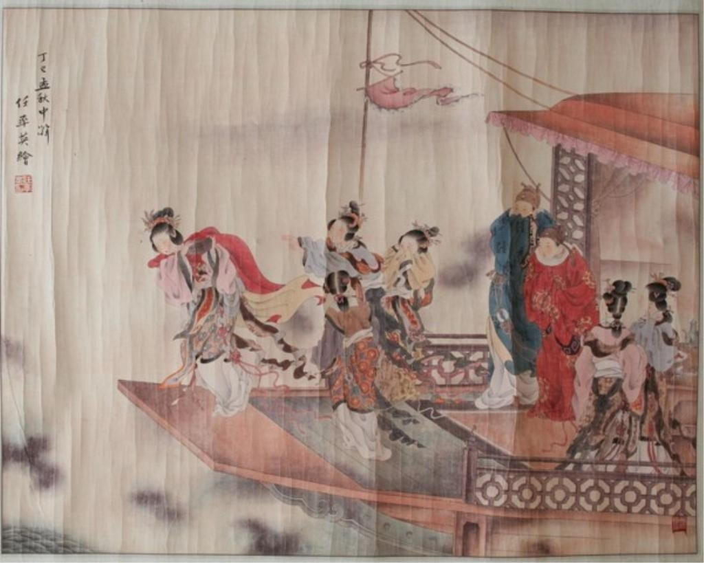 Chinese Painting of Figures attr. Ren Shuai Ying