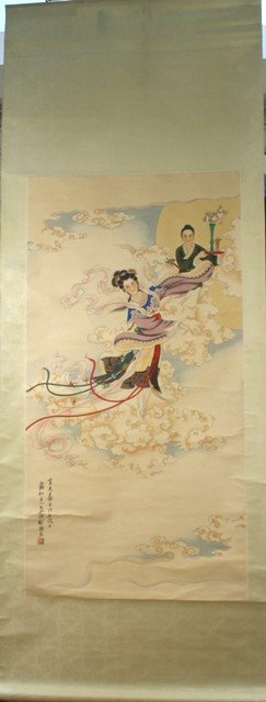Chinese Scroll of Young Lady attr. Xu Chao