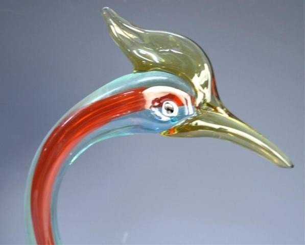 125: Pair of Handmade Venetian Glass Colorful Swans - 9