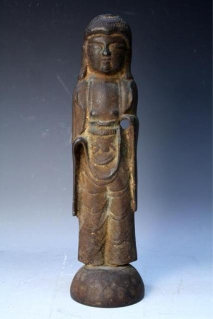 118: Chinese Iron Buddhist Figure Pre-1600