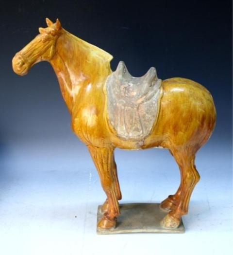 135: Chinese Sancai Pottery Horse Tang Dynasty