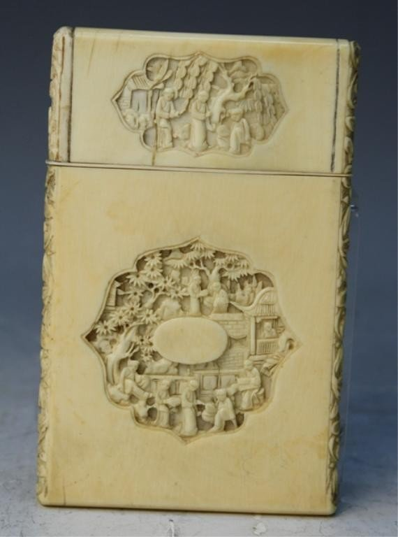 86: Chinese Carved Ivory Card Case
