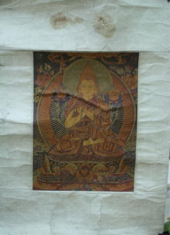 2: Tibetan Embroidered Tsongkhapa Early 20th C.