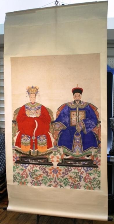 3: Chinese Ancestor Scroll Painting