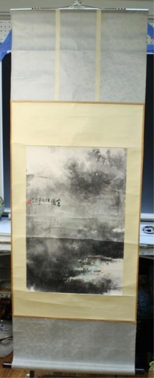 4: Chinese Scroll Painting attr. Xiao Yan Gen 20th C.