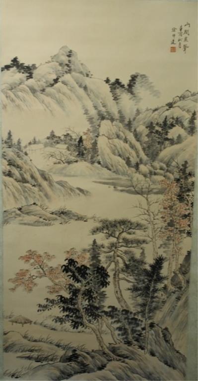 18: Chinese Scroll Painting of Landscape - Xu Bangda