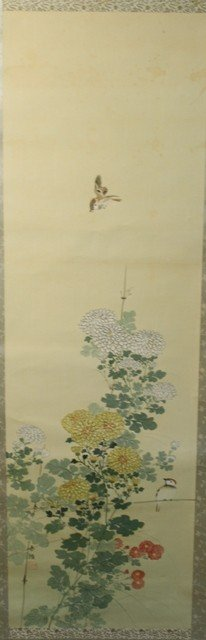 21: Chinese Scroll Painting of Birds and Flowers