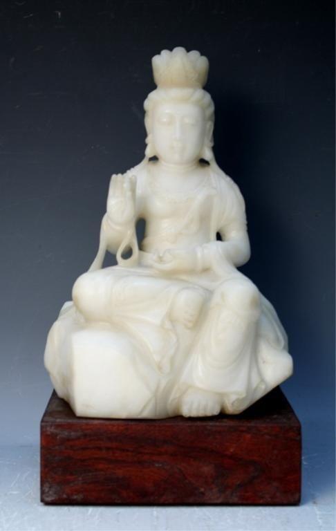 184: Chinese White Jade Guanyin