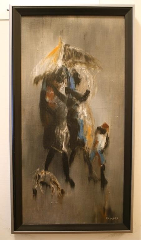 305: Charles Obas Oil Painting on Canvas