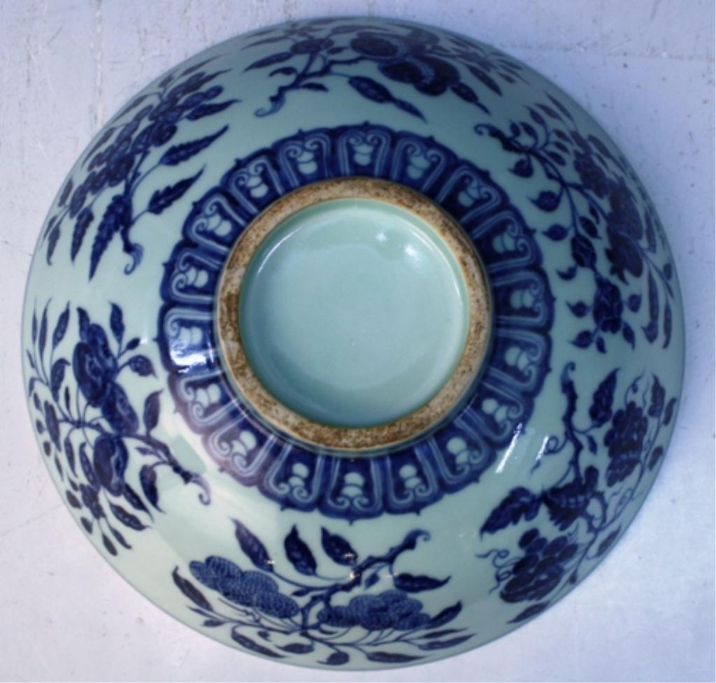 22: Chinese Celadon & Blue Porcelain Bowl - 9