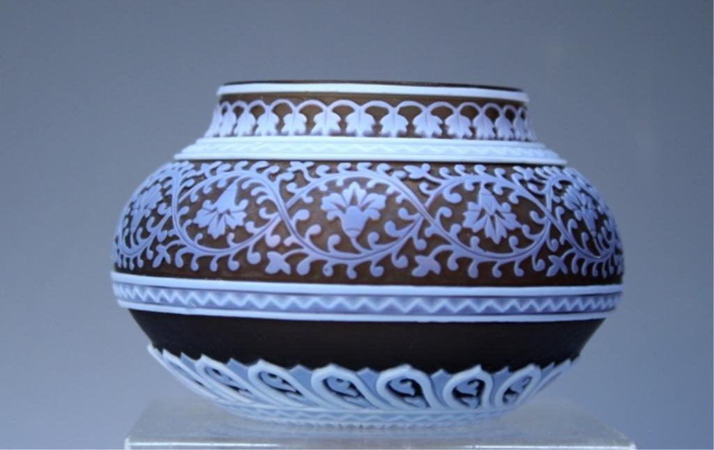 416: Cameo Glass Miniature Vase circa 1890 attr. Webb