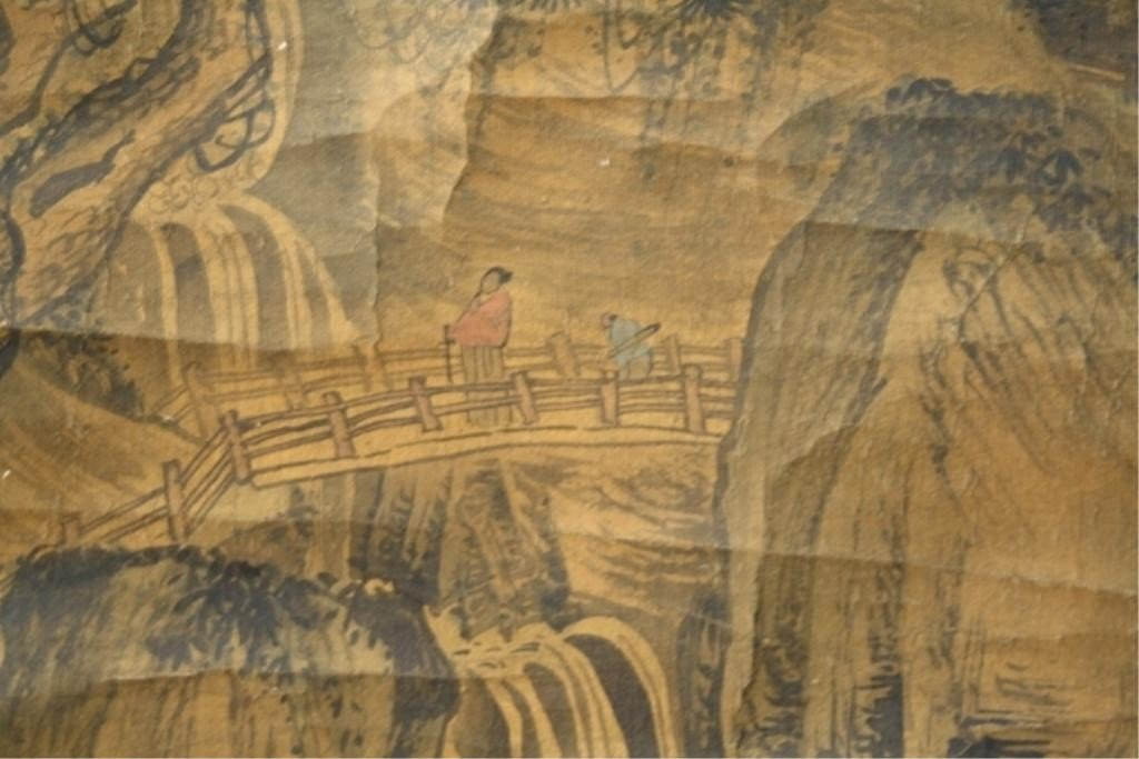 564: Chinese Painting of Landscape attr. Tong Bak Fu - 5
