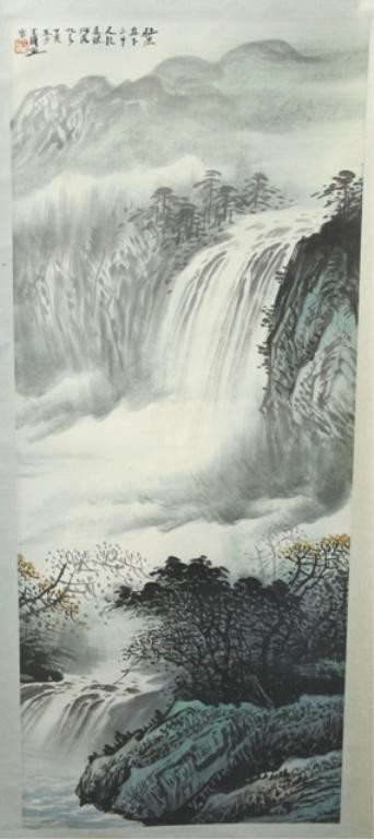 2: Chinese Landscape Scroll Painting - Wang Shenglie