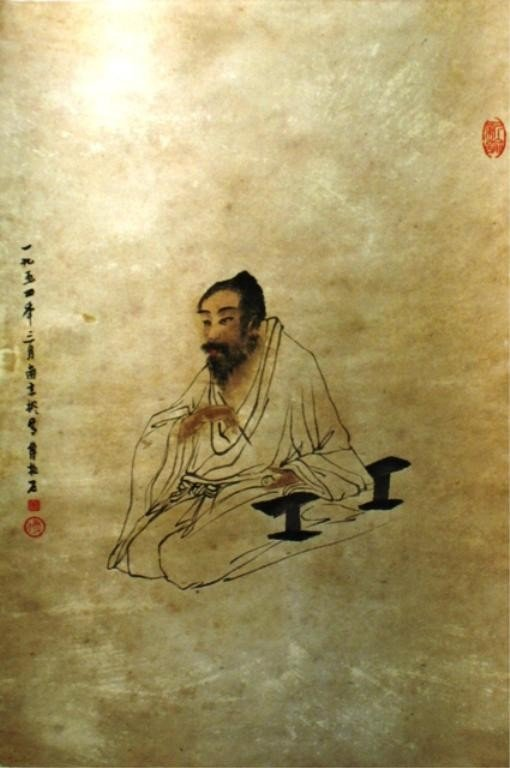 24: Chinese Scroll Portrait Painting after Fu Baoshi