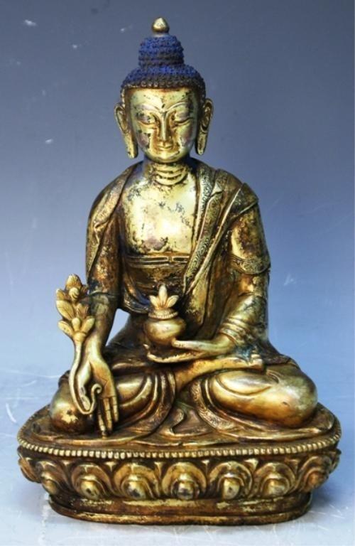 391: Chinese Gilt Bronze Bodhisattva