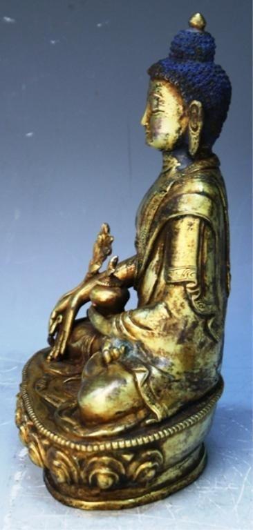 391: Chinese Gilt Bronze Bodhisattva - 2
