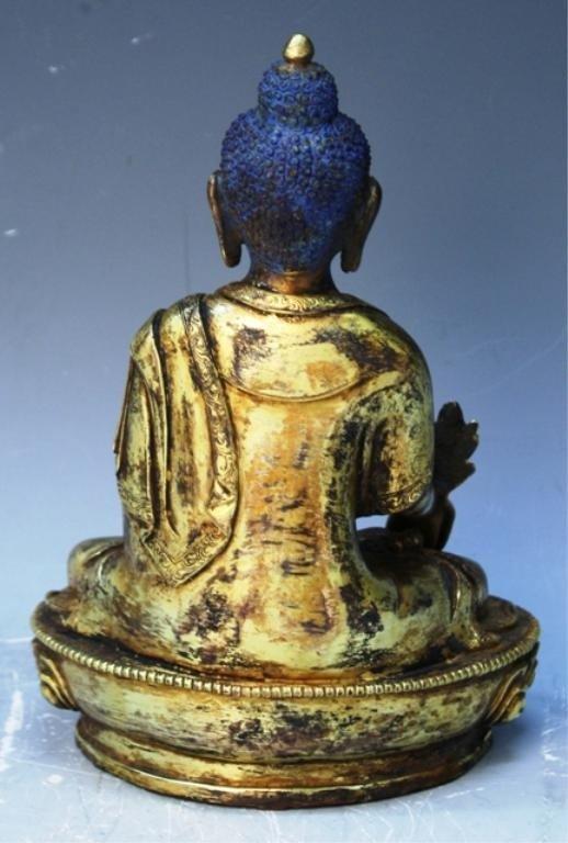 391: Chinese Gilt Bronze Bodhisattva - 3