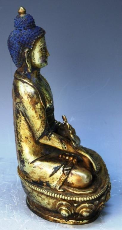 391: Chinese Gilt Bronze Bodhisattva - 4