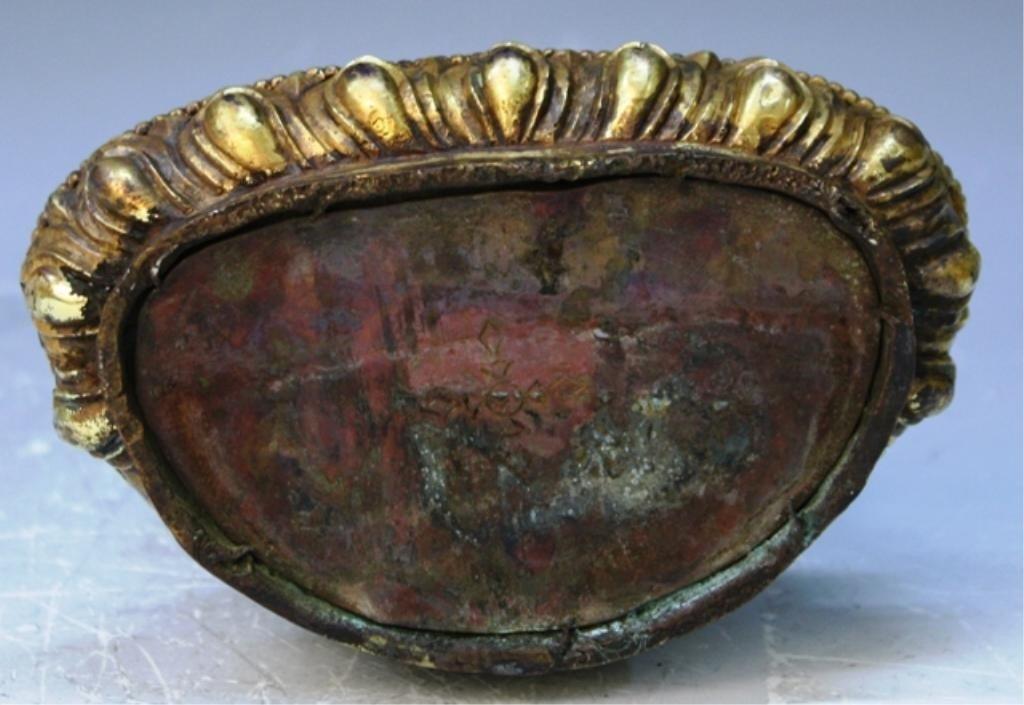 391: Chinese Gilt Bronze Bodhisattva - 5