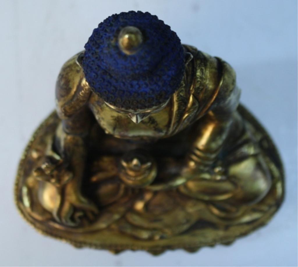 391: Chinese Gilt Bronze Bodhisattva - 6