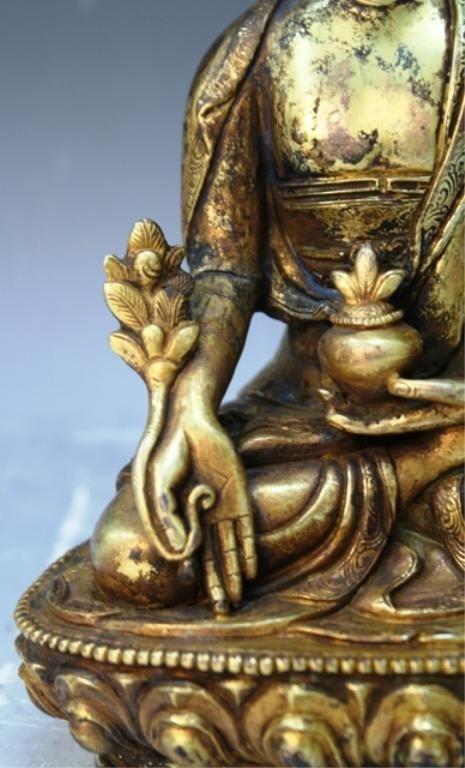 391: Chinese Gilt Bronze Bodhisattva - 7