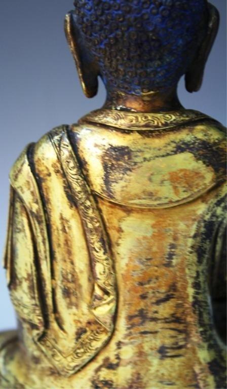391: Chinese Gilt Bronze Bodhisattva - 9