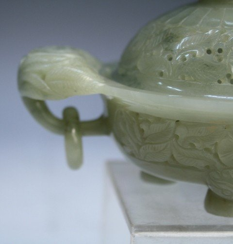 465: Small Chinese Jade Censer Qing Dynasty - 8