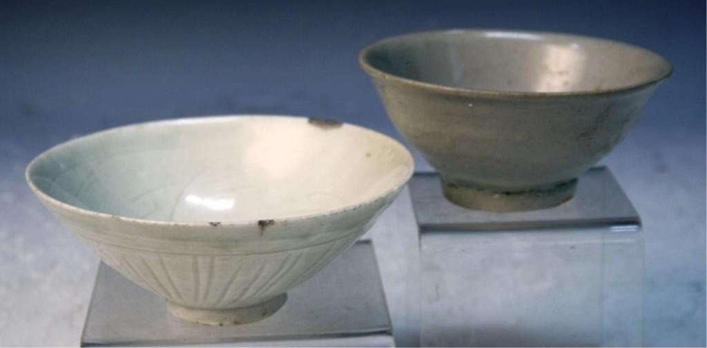 7: Lot of 2 Chinese Celadon Bowls